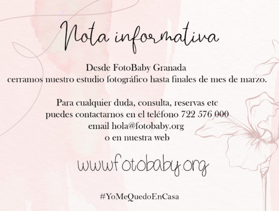 Nota Informativa desde FotoBaby Granada