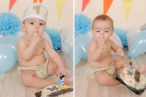 Smash Cake sesión fotográfica divertida fotobaby fotografa infantil en granada new born embarazo familiar recién nacido (5)